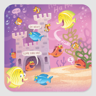 Time To Count-Under the Sea Square Sticker