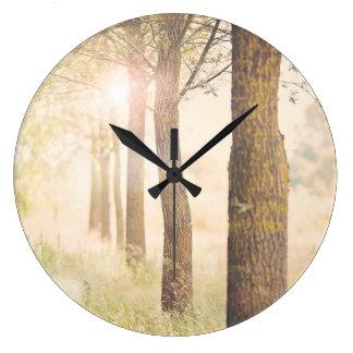 Time to dream woodland clock