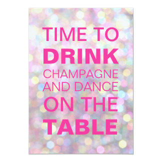 Time to Drink Champagne Birthday Invitation
