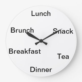 Time to eat large clock