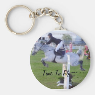 Time To Fly~ Basic Round Button Key Ring