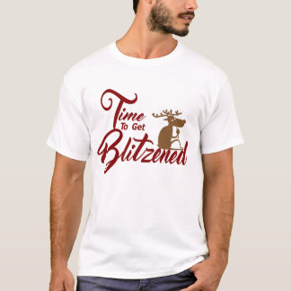 Time to get Blitzened mens Christmas t-shirt