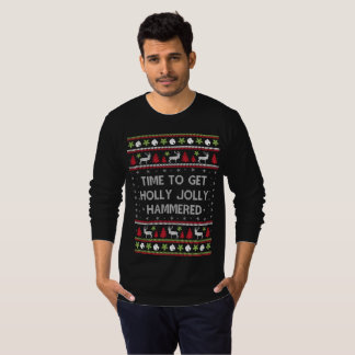 Time To Get Holly Jolly Hammered Sweater