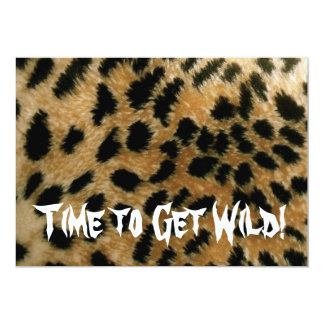Time to Get Wild! Party invite in leopard print