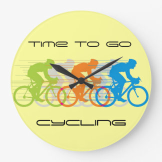 Time to Go Cycling Design Wall Clock