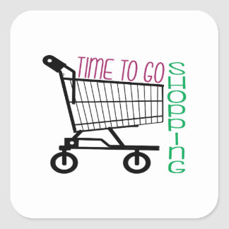 Time To Go Shopping Stickers