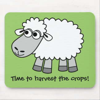 Time to harvest the crops! (Virtual Farming) Mouse Mat