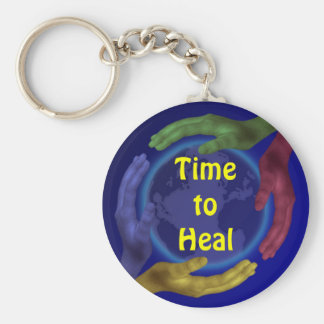 Time to Heal keychain