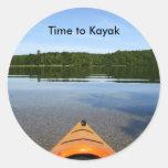 Time to kayak stickers