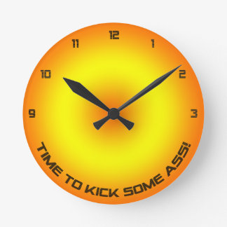Time To Kick... Wall Clock