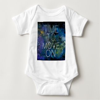 Time to move on - cosmic, night sky with stars baby bodysuit