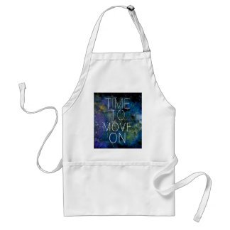 Time to move on - cosmic, night sky with stars standard apron