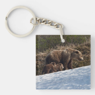 Time to Move On Single-Sided Square Acrylic Key Ring