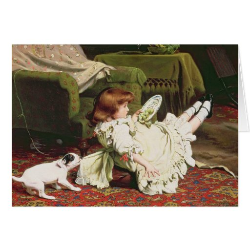 Time to Play, 1886 Greeting Cards