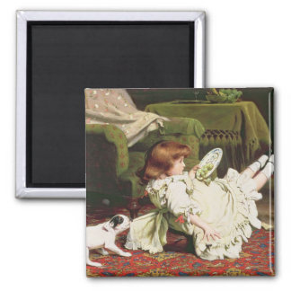 Time to Play, 1886 Square Magnet