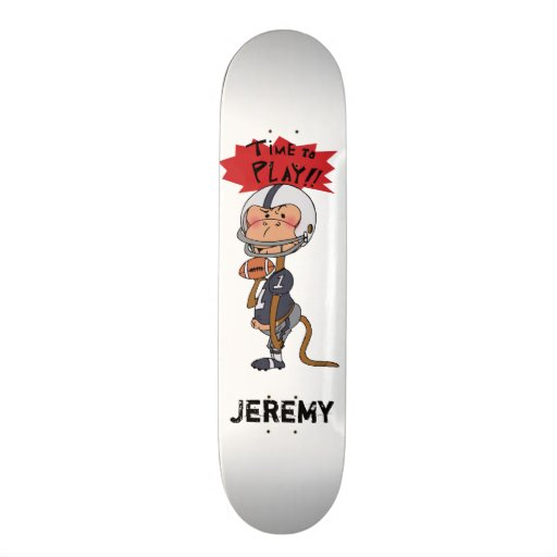 Time to play!! ( American football - add name ) Skate Deck