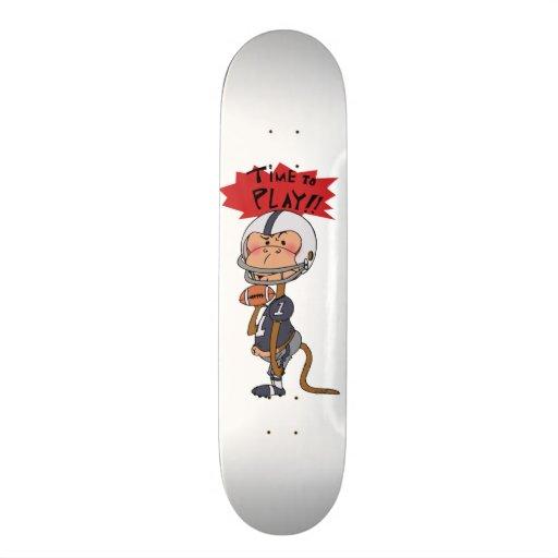 Time to play!! ( American football monkey ) Custom Skate Board