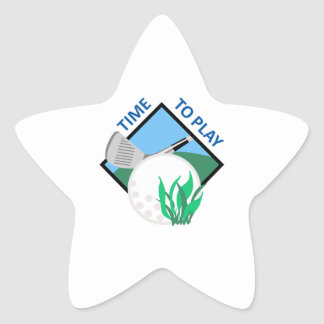 TIME TO PLAY GOLF STAR STICKERS