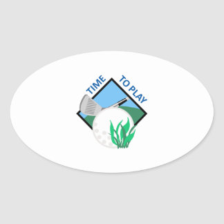 TIME TO PLAY GOLF OVAL STICKER