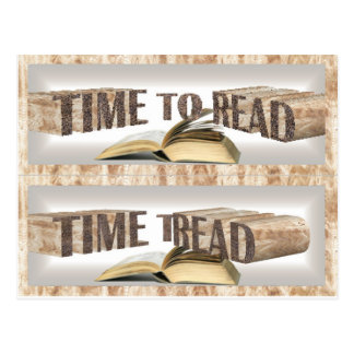 time to read bookmark postcard