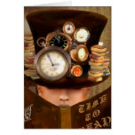 Time to Read - STEAMPUNK Greeting Card