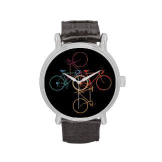 time to ride a bike wrist watch