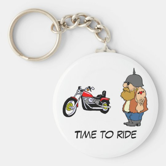 Time To Ride Key Ring