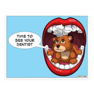 Time To See Your Dentist Postcard
