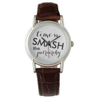 Time to Smash the Patriarchy Watch, Script font Watch