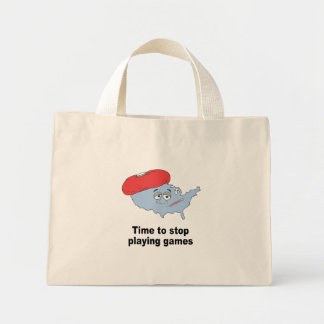 Time to stop playing games canvas bags