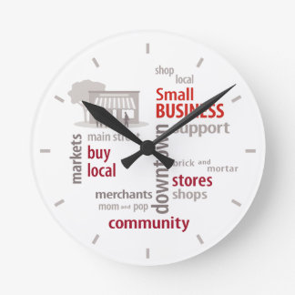 Time to Support Your Local Small Business Clock