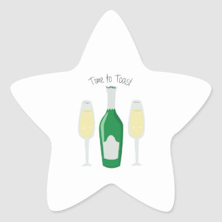 Time To Toast Star Stickers