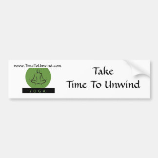 time to unwind bumper sticker