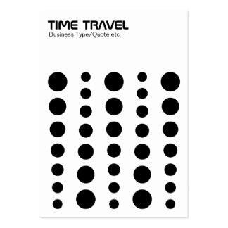 Time Travel - Black on White Large Business Cards (Pack Of 100)