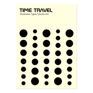 Time Travel - Black on White (Cream Card) Large Business Cards (Pack Of 100)