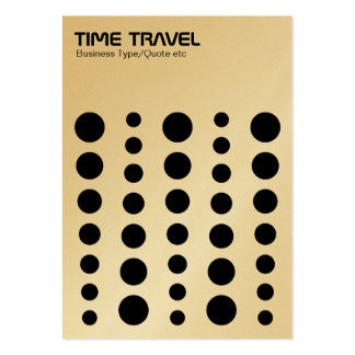 Time Travel - Black on White (Gold Card) Large Business Cards (Pack Of 100)