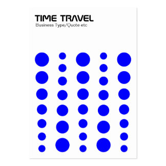 Time Travel - Blue on White Pack Of Chubby Business Cards