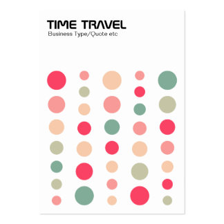 Time Travel - Colors 01 Large Business Cards (Pack Of 100)