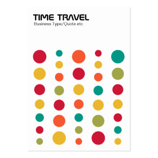 Time Travel - Colors 02 Large Business Cards (Pack Of 100)