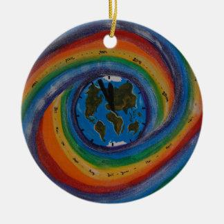 Time travel round ceramic decoration