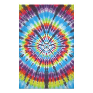 Time Travel Tunnel Tie Dye Stationery