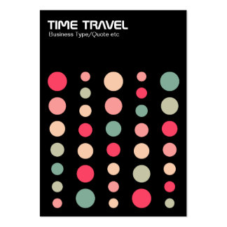 Time Travel v1.2 - Colors 01 Large Business Cards (Pack Of 100)