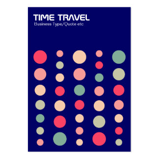 Time Travel v1.2 - Colors 01 - Dark Blue 000066 Pack Of Chubby Business Cards