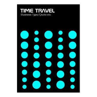 Time Travel v1.2 - Cyan on Black Large Business Cards (Pack Of 100)