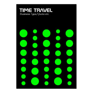 Time Travel v1.2 - Green on Black Pack Of Chubby Business Cards