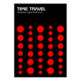 Time Travel v1.2 - Red on Black Large Business Cards (Pack Of 100)