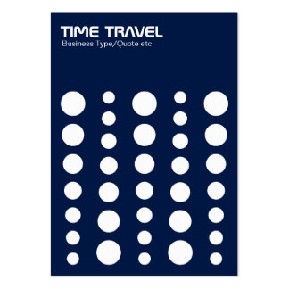 Time Travel v1.2 - White on Dark Blue 001744 Large Business Cards (Pack Of 100)