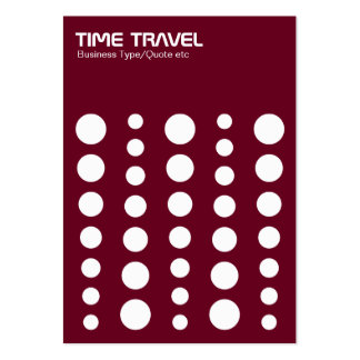 Time Travel v1.2 - White on Dark Red 65001d Large Business Cards (Pack Of 100)