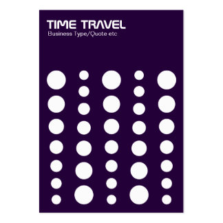 Time Travel v1.2 - White on Deep Purple Large Business Cards (Pack Of 100)