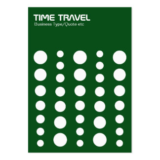 Time Travel v1.2 - White on Green 0a4e19 Large Business Cards (Pack Of 100)